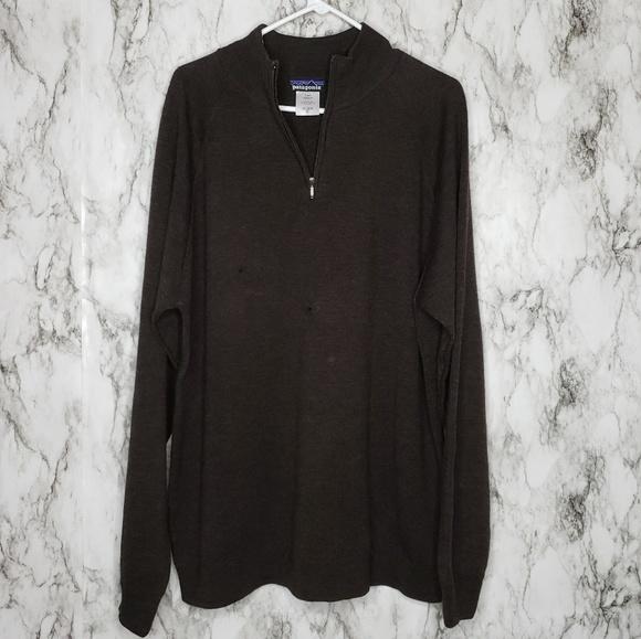 Patagonia Other - Patagonia 1/4 Zip Wool Men's Sweater Brown Sz XL